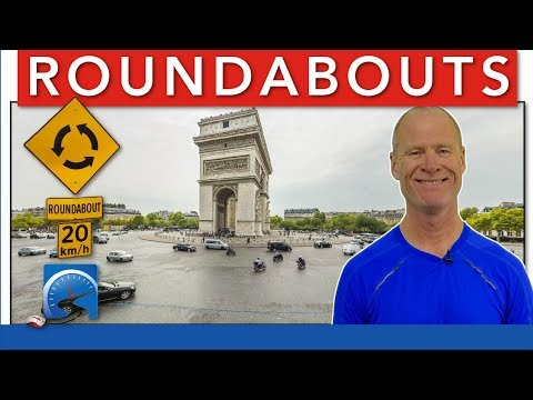 How to Drive Through Roundabouts :: Driving Lesson to Pass A Road Test