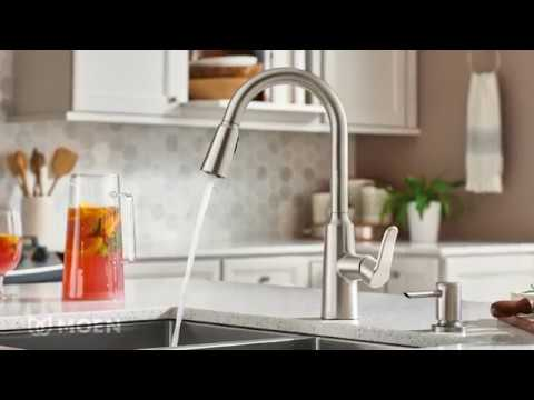 Edwyn Spot Resist Stainless One Handle High Arc Pulldown Kitchen Faucet