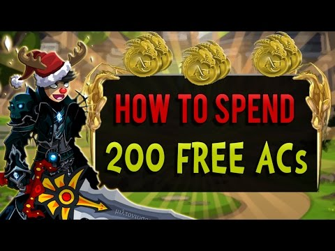 How To Spend 200 Free ACs in AQW