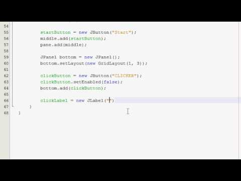 Java GUI Tutorial 32 - Click counter & timer (Part 2 of 4)