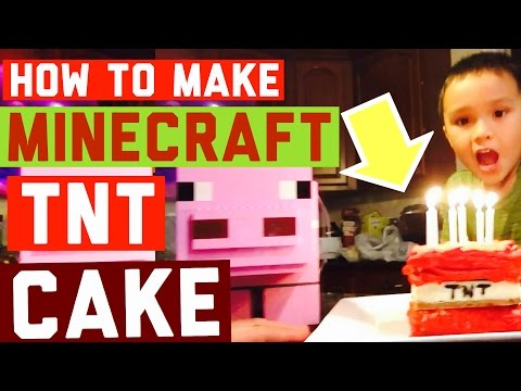 How to Make MINECRAFT TNT mini cake!!! DIY
