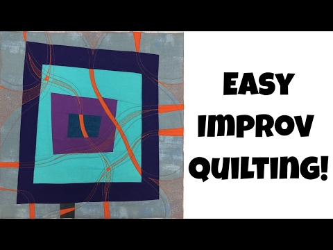 Easy Improv Quilting with Leah Day - Quilting Tutorial Collaboration with Vicki Holloway