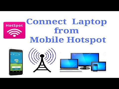 how to connect laptop via mobile hotspot