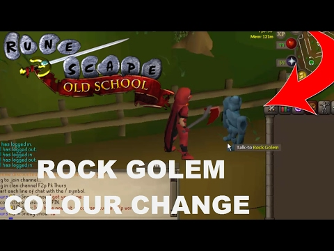 How to Change the Colour of Your Rock Golem - Old School Runescape