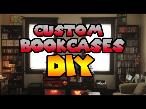 DIY | Custom Wooden Bookcases to hold video games, DVD, VHS tapes and more