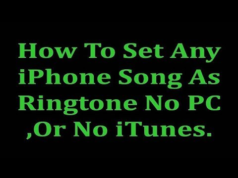 How to Set iPhone songs as iPhone Ringtone