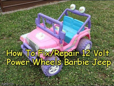 How To Repair / Fix Power Wheels Barbie Jeep - 12 Volt Electric Powerwheels Troubleshooting