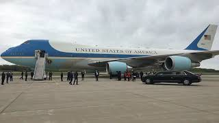 President Trump lands in Detroit before touring Ford ventilator factory