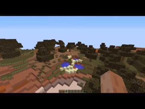 How to find a Mesa Biome and a Dessert Village in minecraft 1.7.2! With seed and coords!