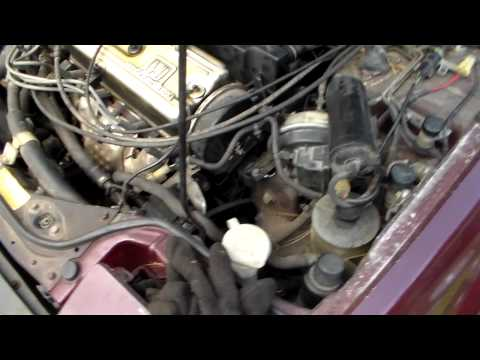 How to change belts on 1986-89 Honda Accord part 1