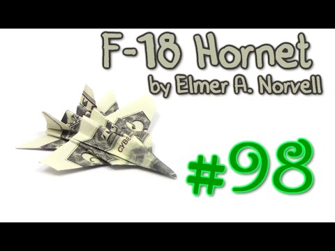 Origami F-18 Money by Elmer A. Norvell - Yakomoga dollar Origami tutorial