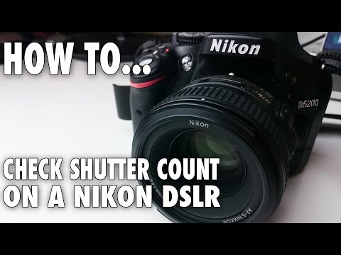 How to check Shutter Count on a Nikon DSLR on Mac