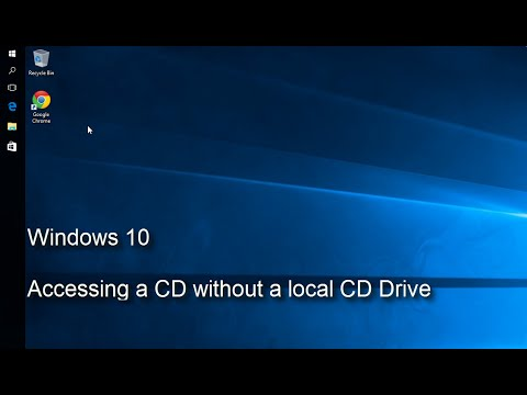 Windows 10 - Accessing a CD without a local CD Drive