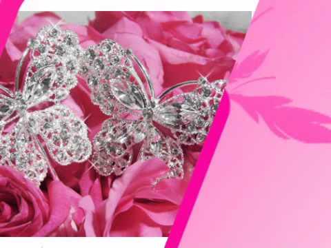 Crystal Butterfly Bouquet Jewelry