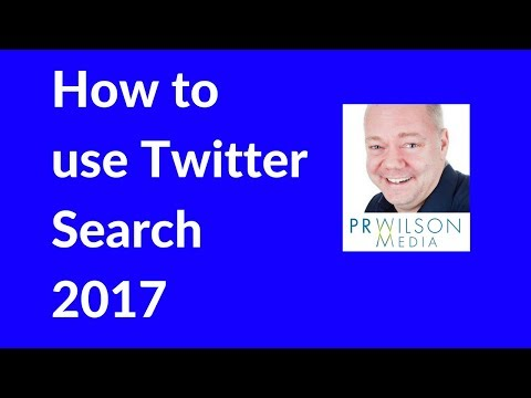 How to use Twitter Search 2017