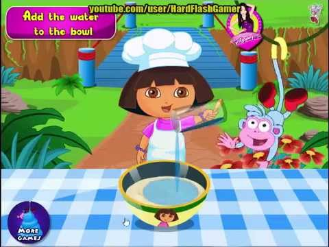 Dora The Explorer -  Dora Making Birthday Cake Games
