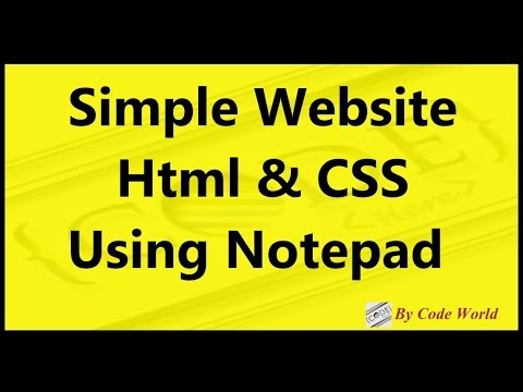 Simple Website Html & Css Using Notepad