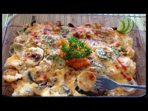 Dynamite Bake shrimp and scallops  recipe