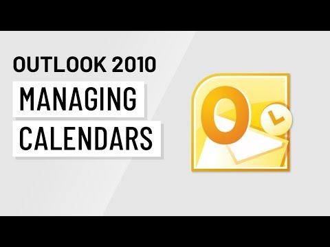 Microsoft Outlook 2010: Managing Calendars