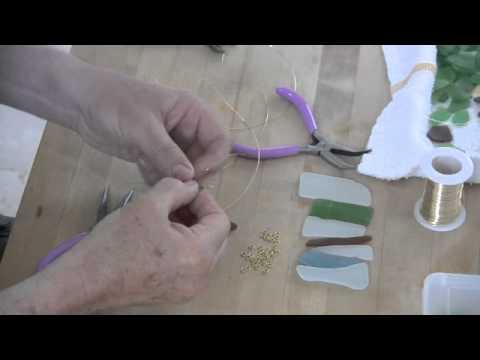 Making Sea Glass Wine Charms
