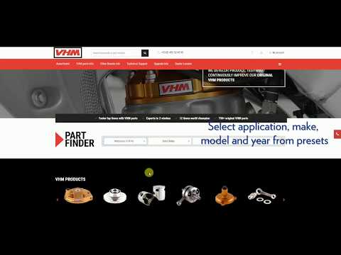 VHM Webinstructions: How to find parts for your bike