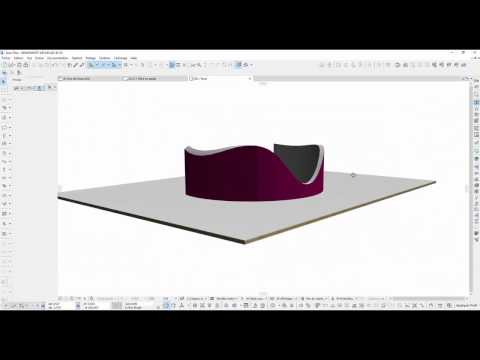 curved elevation in ARCHICAD