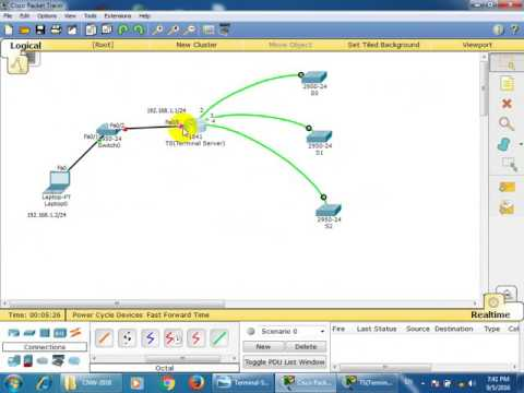 Configure terminal server on router with remote SSH for logging to switch