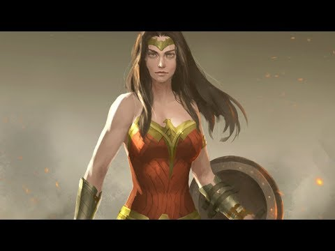 Wonder Woman digital painting time lapse