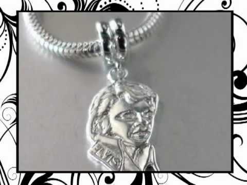 Elvis Charm in Sterling Silver Fits Pandora Bracelets