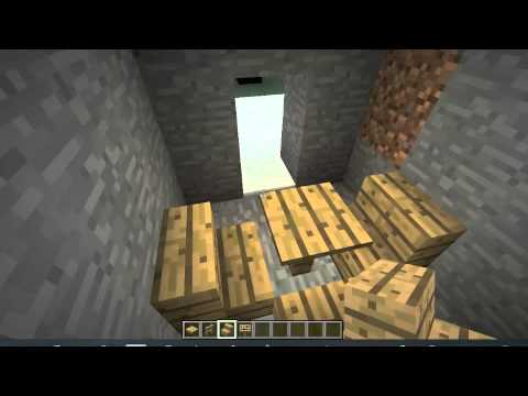 How to make a table and couch (Minecraft)