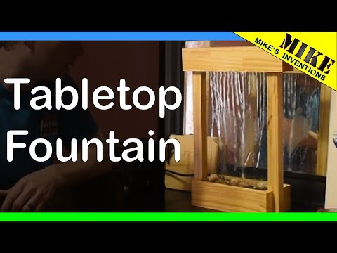 Tabletop Wood and Glass Fountain - Mikes Inventions