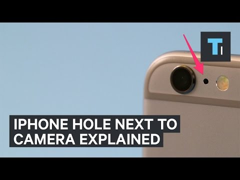 Why your iPhone has a tiny hole next to the camera