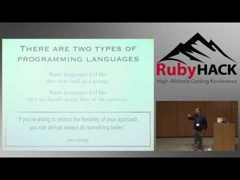 2017 RubyHACK, Rob Martin: Functional Programming from Ruby to Elixir