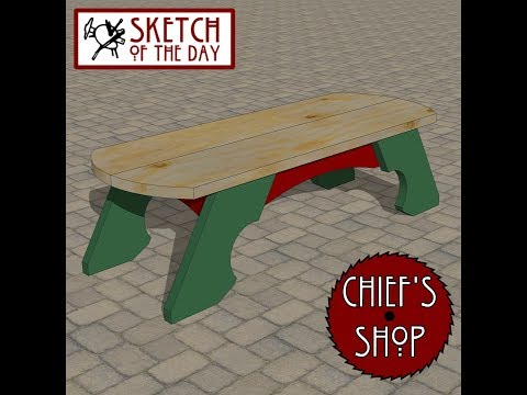 Chief's Shop Sketch of the Day: Ceremony Bench