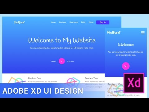 Adobe XD Tutorial Responsive Web Design