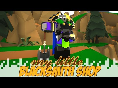Meeting The King And Exploring The Town! - MY LITTLE BLACKSMITH SHOP (Gameplay/Let's Play)