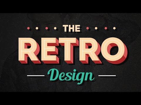 Create a retro design with shadow. tutorials text effects photoshop typography