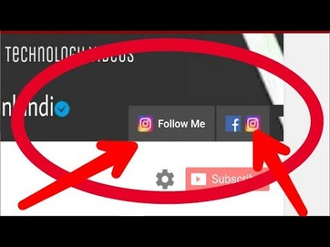 How to Add Social Media Icons On Your Youtube Channel Art !