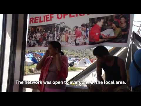 Vodafone's Instant Network - Philippines relief mission