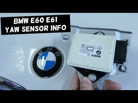 YAW TRACTION CONTROL SENSOR LOCATION AND REPLACEMENT BMW E60 E61