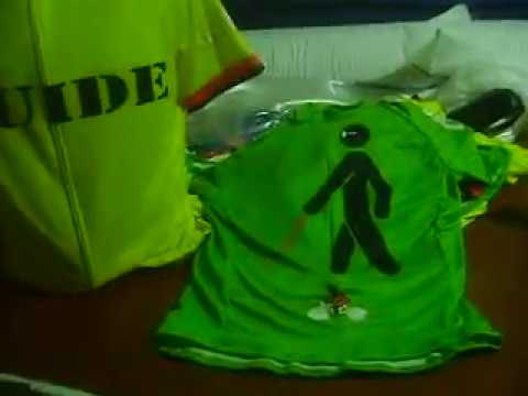 Neon Color Bike Jersey Safety for Blind Man by Bikingthings