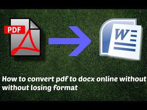 How to convert pdf to docx online without losing format | pdf to word