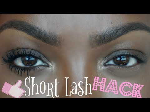Mascara HACK for short lashes | mega volume??