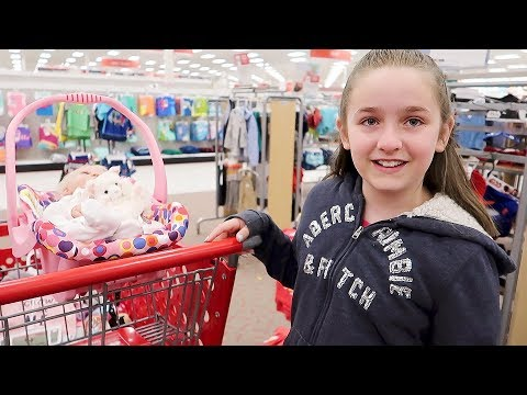 Shopping with Reborn Baby Doll Shilo for Newborn Baby Supplies at Target Shopping Haul