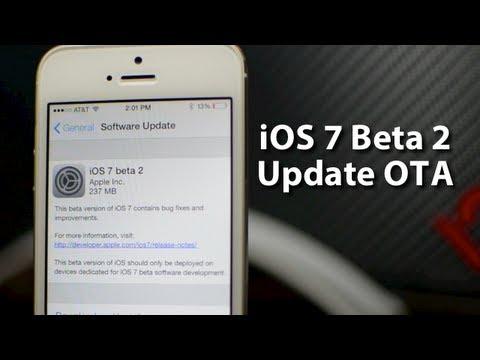 iOS 7 Beta 2 iPhone 5 Update OTA - Registered Demo