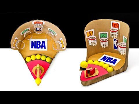 How To Make NBA Basketball Arcade Board Game From Cardboard