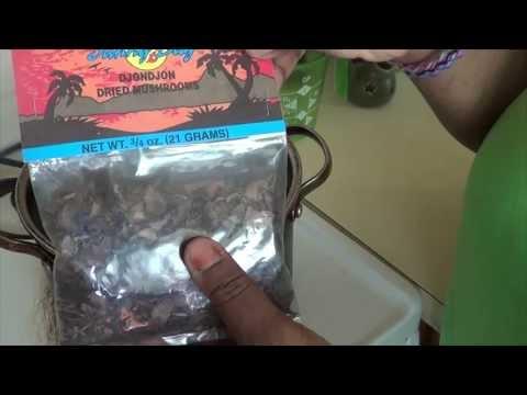 How to make your water black using black mushroom!