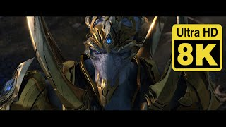 Starcraft II Legacy of the void opening cinematic 8K (Upscale with Machine Learning AI)