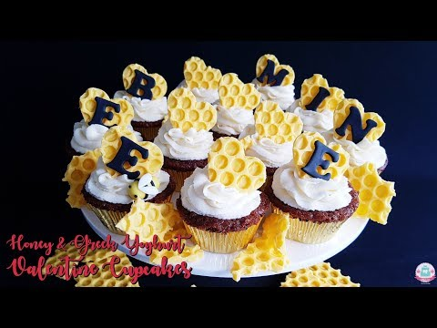 BEE MINE | HONEY VALENTINE CUPCAKES | Abbyliciousz The Cake Boutique
