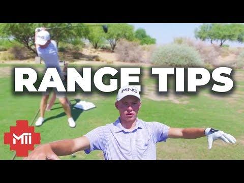 Davis Evans Junior Golfer Range Tips